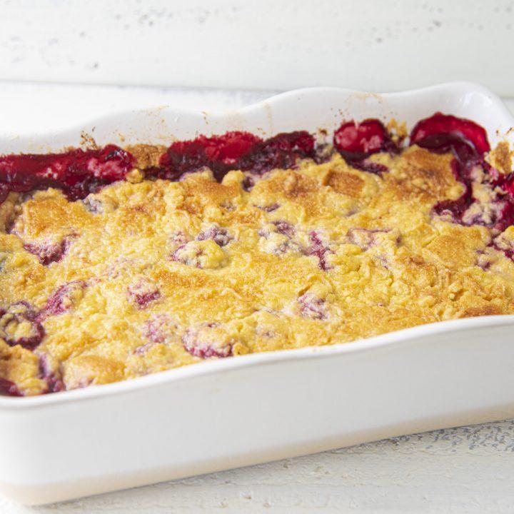 Mixed Berry Cornbread Dump Cake