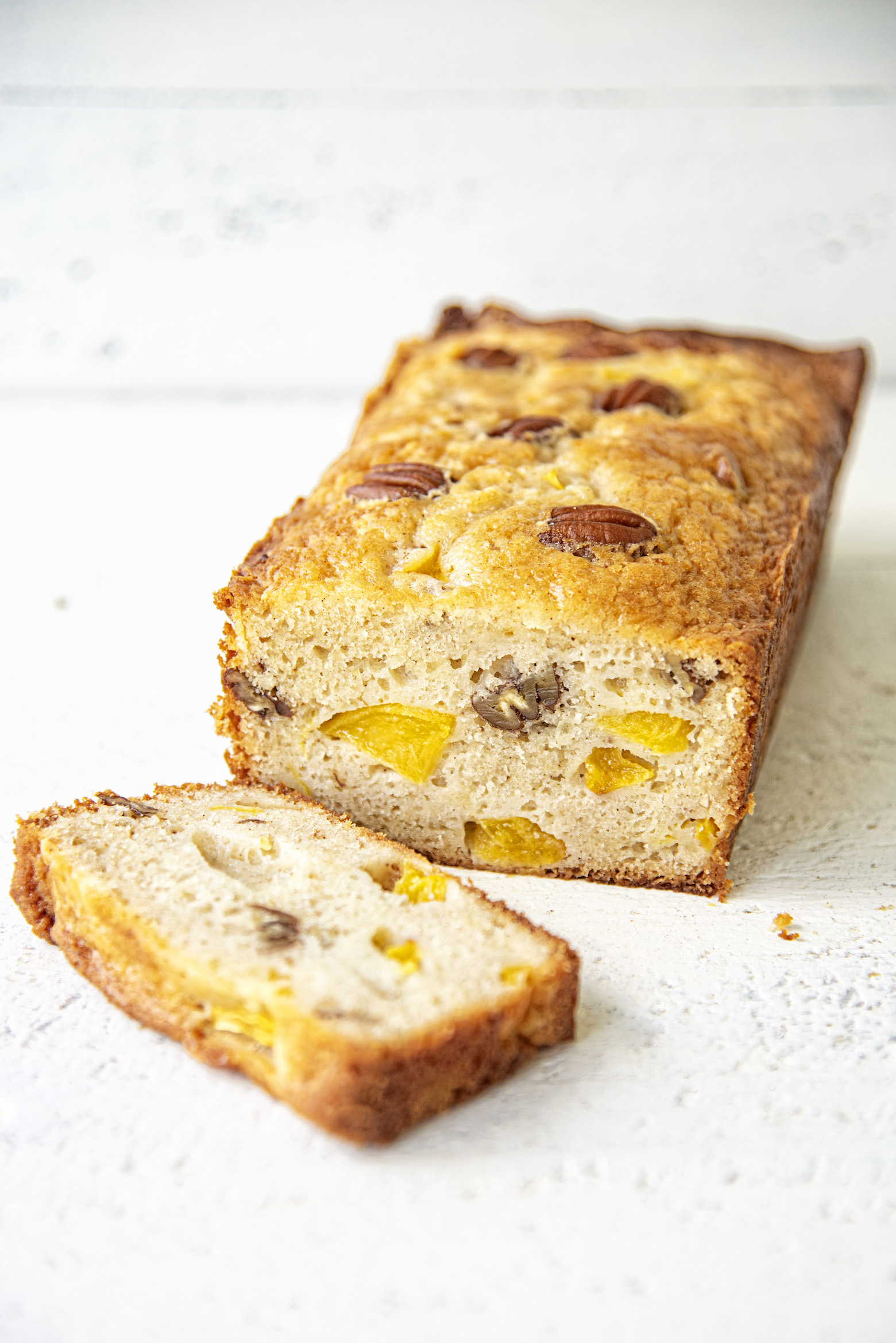 Peach Pecan Spice Quick Bread