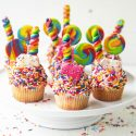 Vanilla Sprinkle Birthday Cupcakes