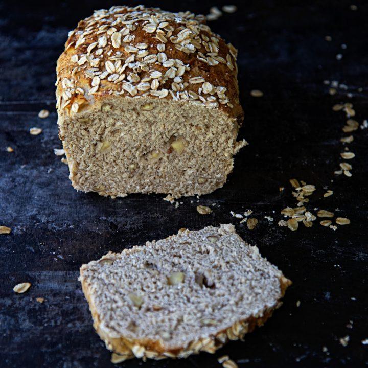 Apple Pecan Oatmeal Bread