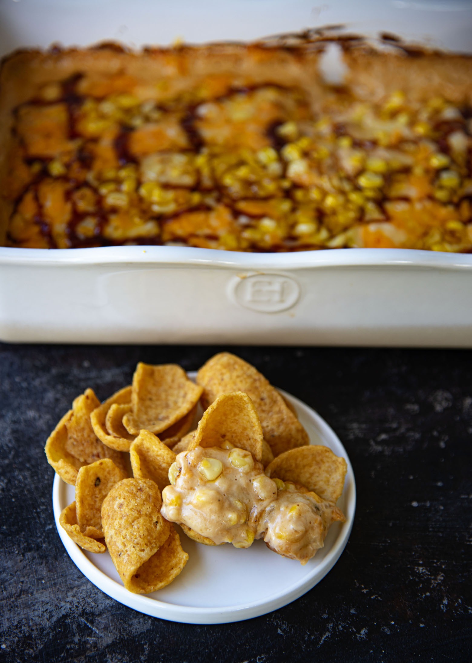 BBQ Ranch Hot Corn Dip