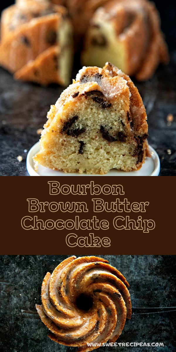 Bourbon Brown Butter Chocolate Chip Cake