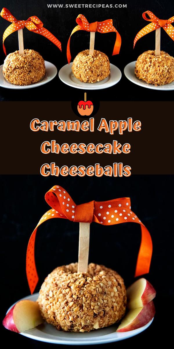 Caramel Apple Cheesecake Cheeseballs