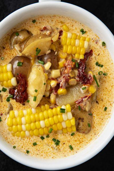 Chipotle Tomato Corn Chowder