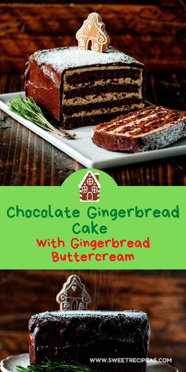Chocolate Gingerbread Cake with Gingerbread Buttercream
