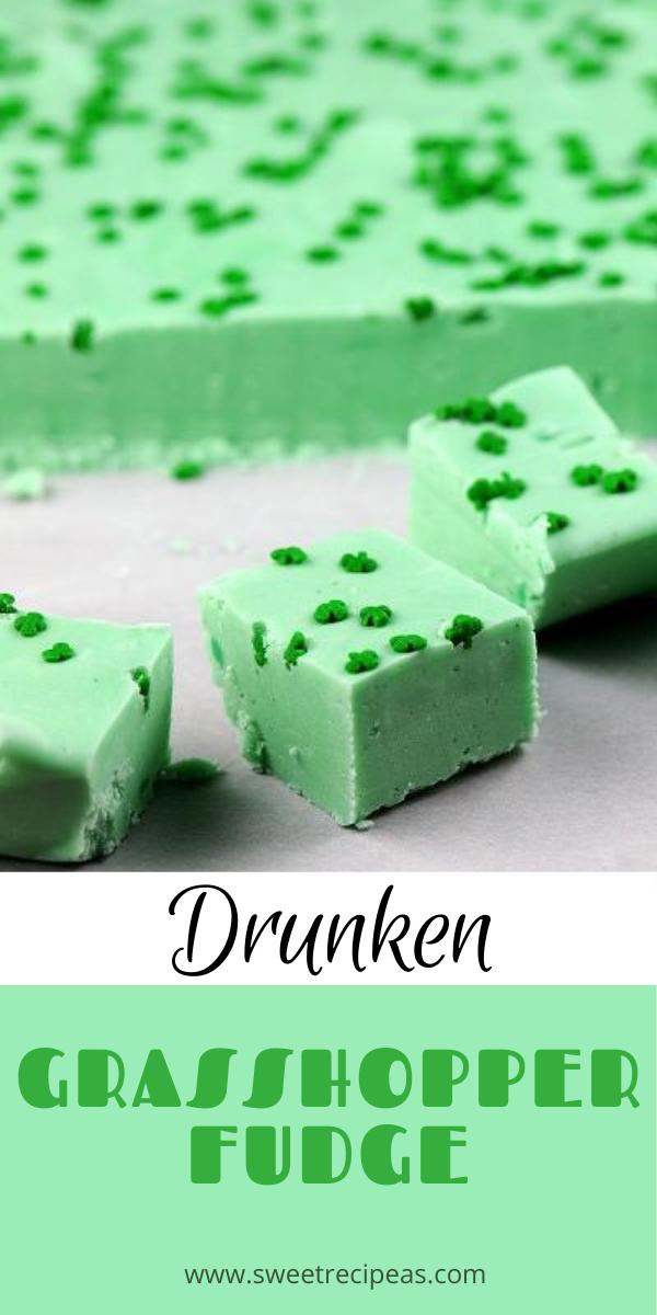 Drunken Grasshopper Fudge