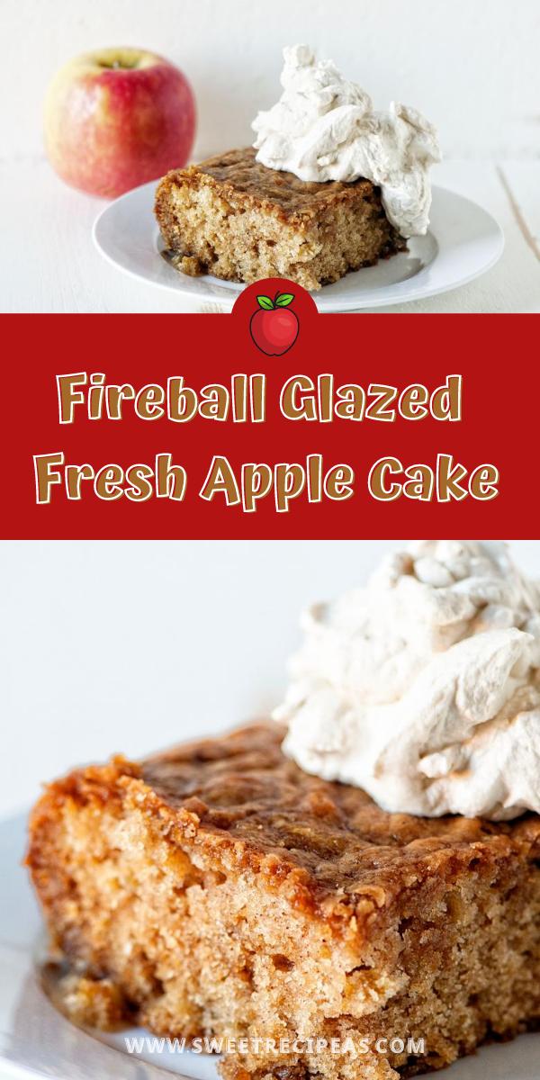Fireball Glazed Fresh Apple Cake
