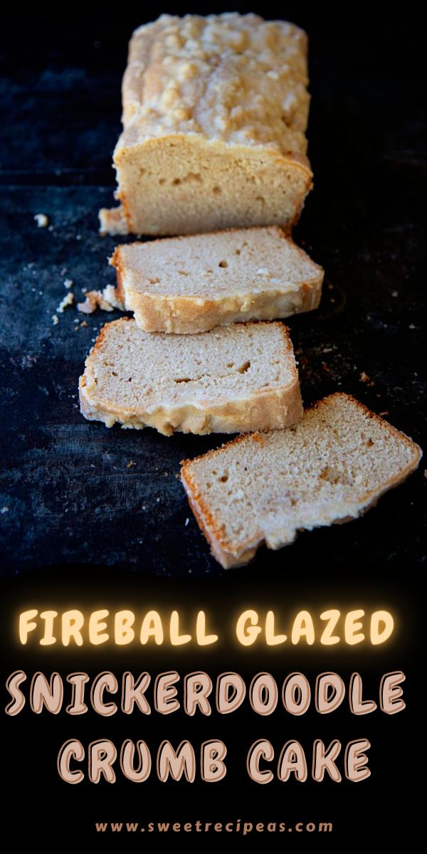 Fireball Glazed Snickerdoodle Crumb Cake