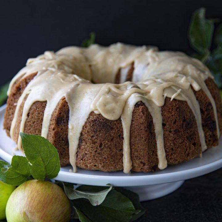 Glazed Pecan Butterscotch Apple Cake