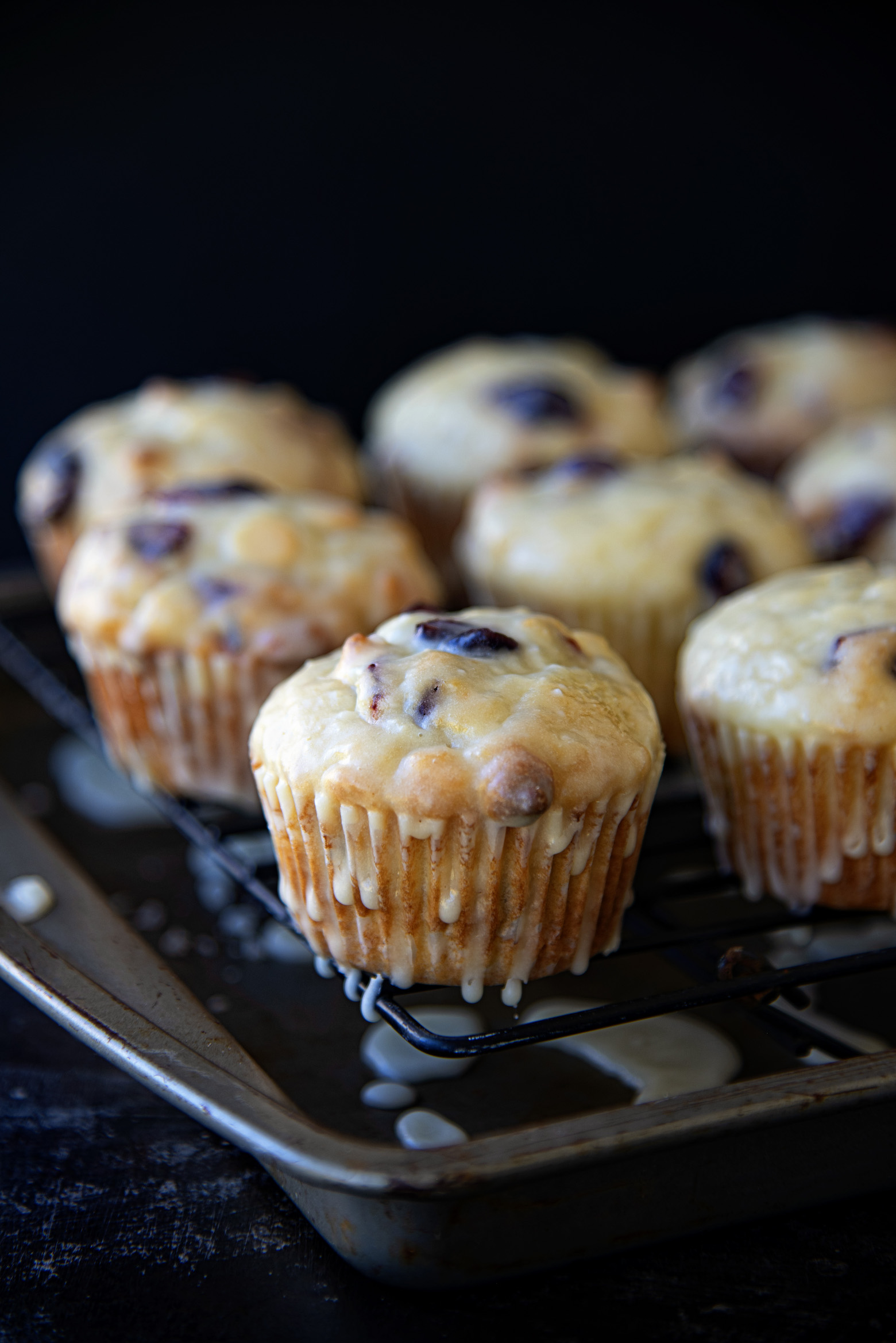 Orange Cranberry White Chocolate Walnut Muffins