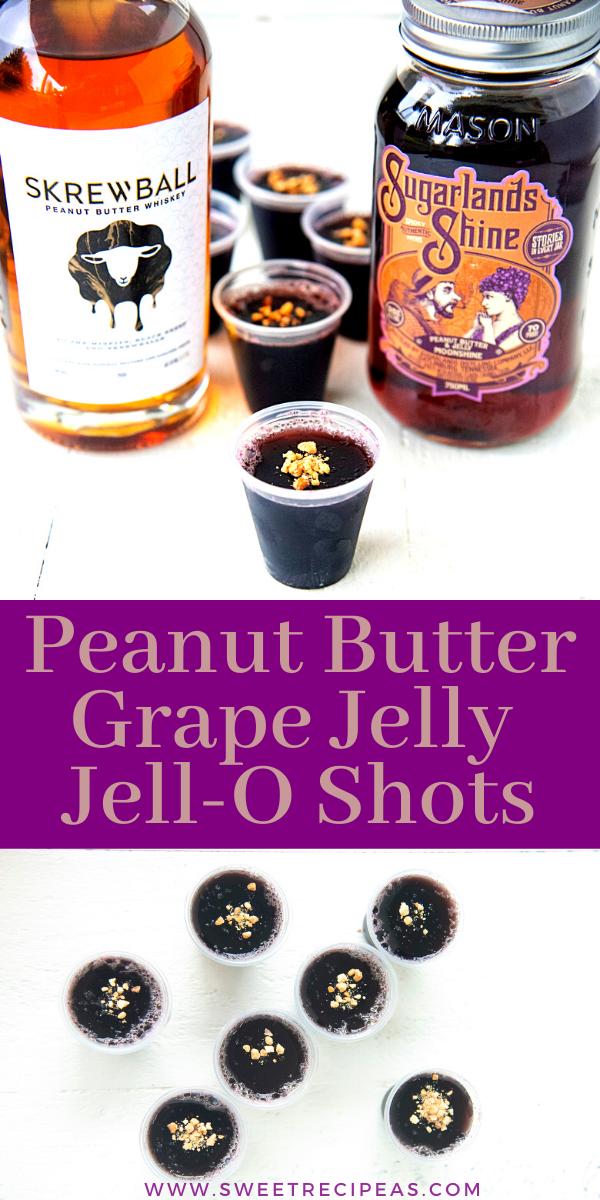 Peanut Butter Grape Jelly Jell-O Shots