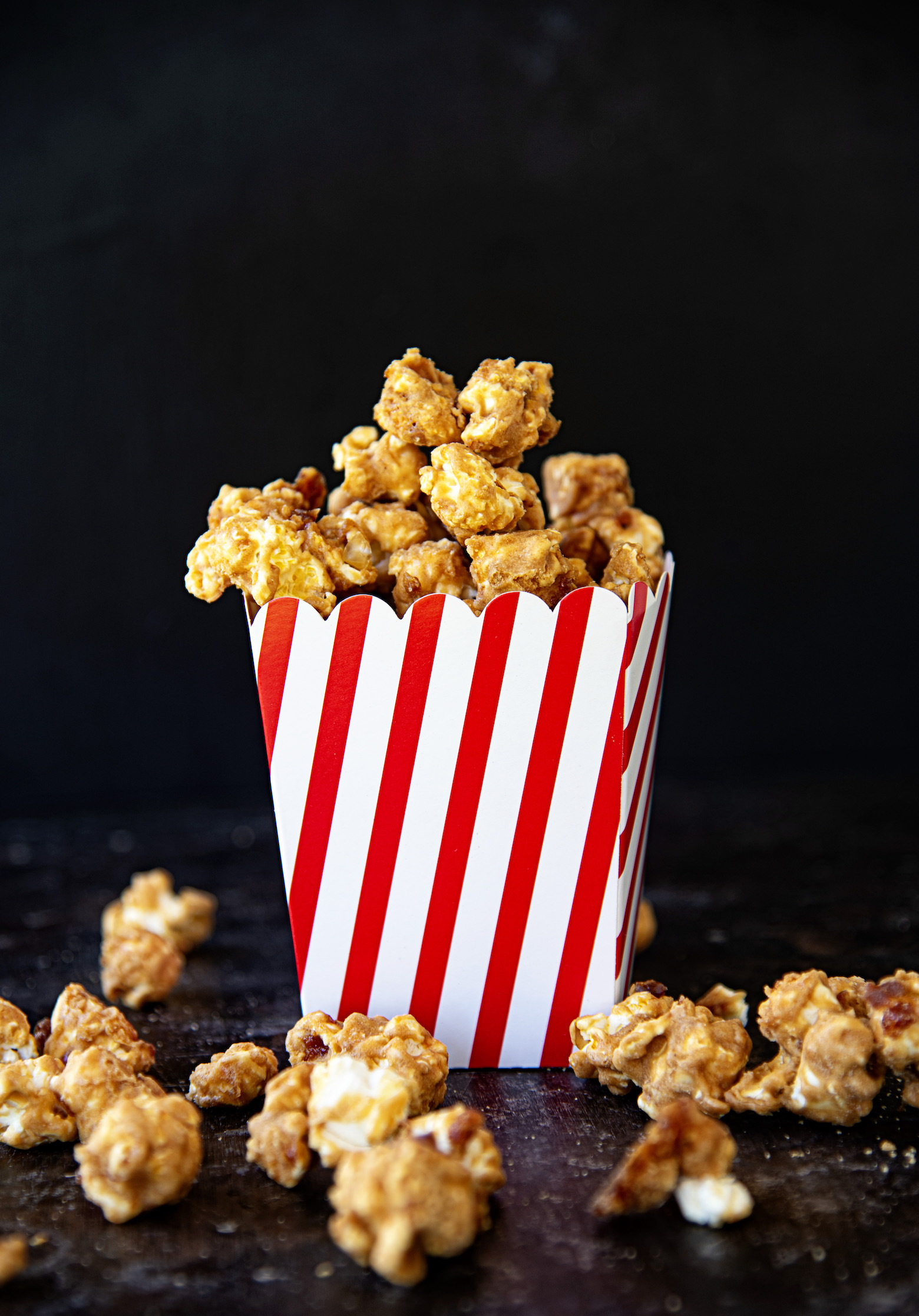 Peanut Butter Jelly Caramel Corn