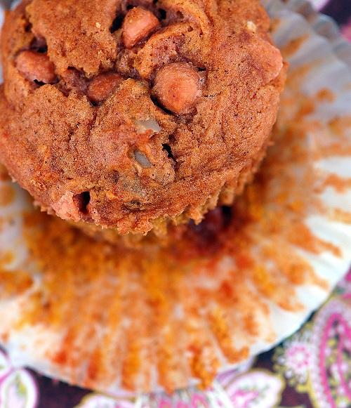 Pumpkin Butterscotch Walnut Muffins