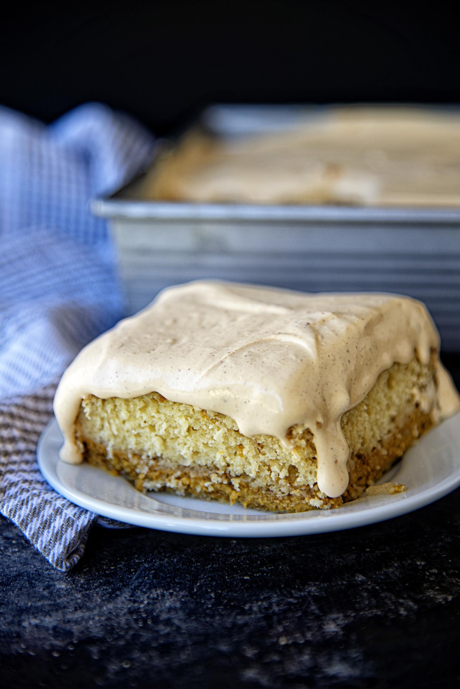Pumpkin Dulce de Leche Magic Cake