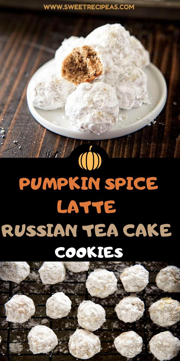 Pumpkin Spice Latte Russian Tea Cake Cookies