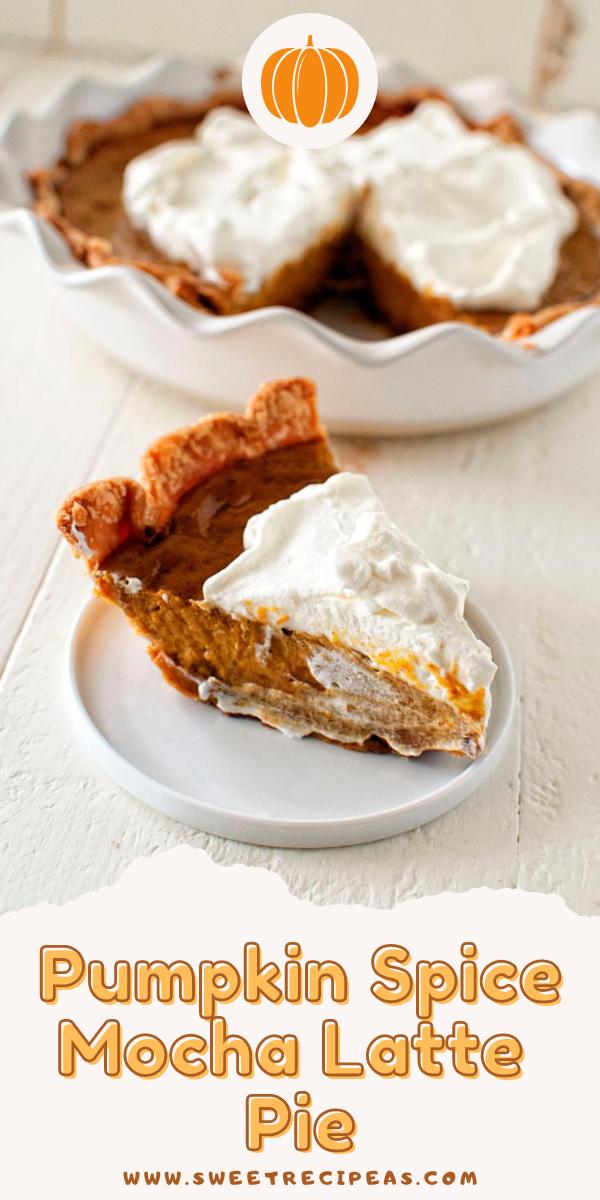 Pumpkin Spice Mocha Latte Pie