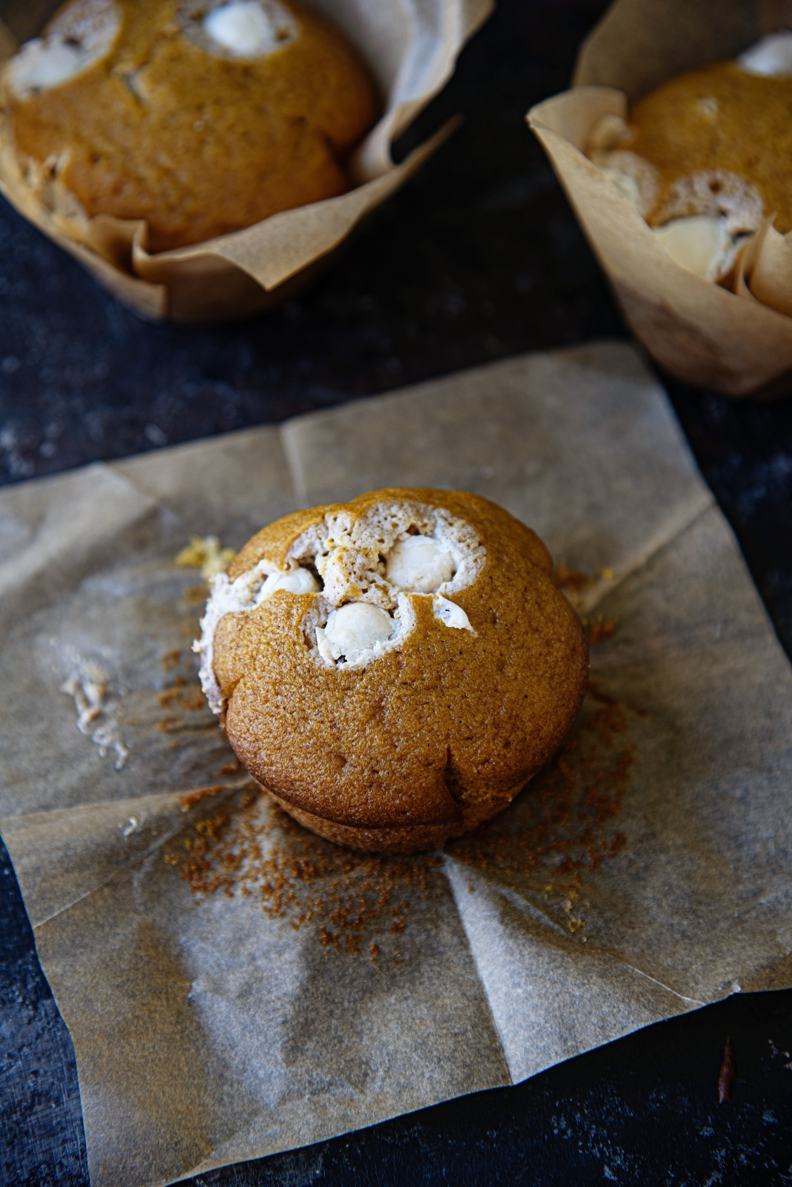 Pumpkin Spice Yogurt Raisin Muffins