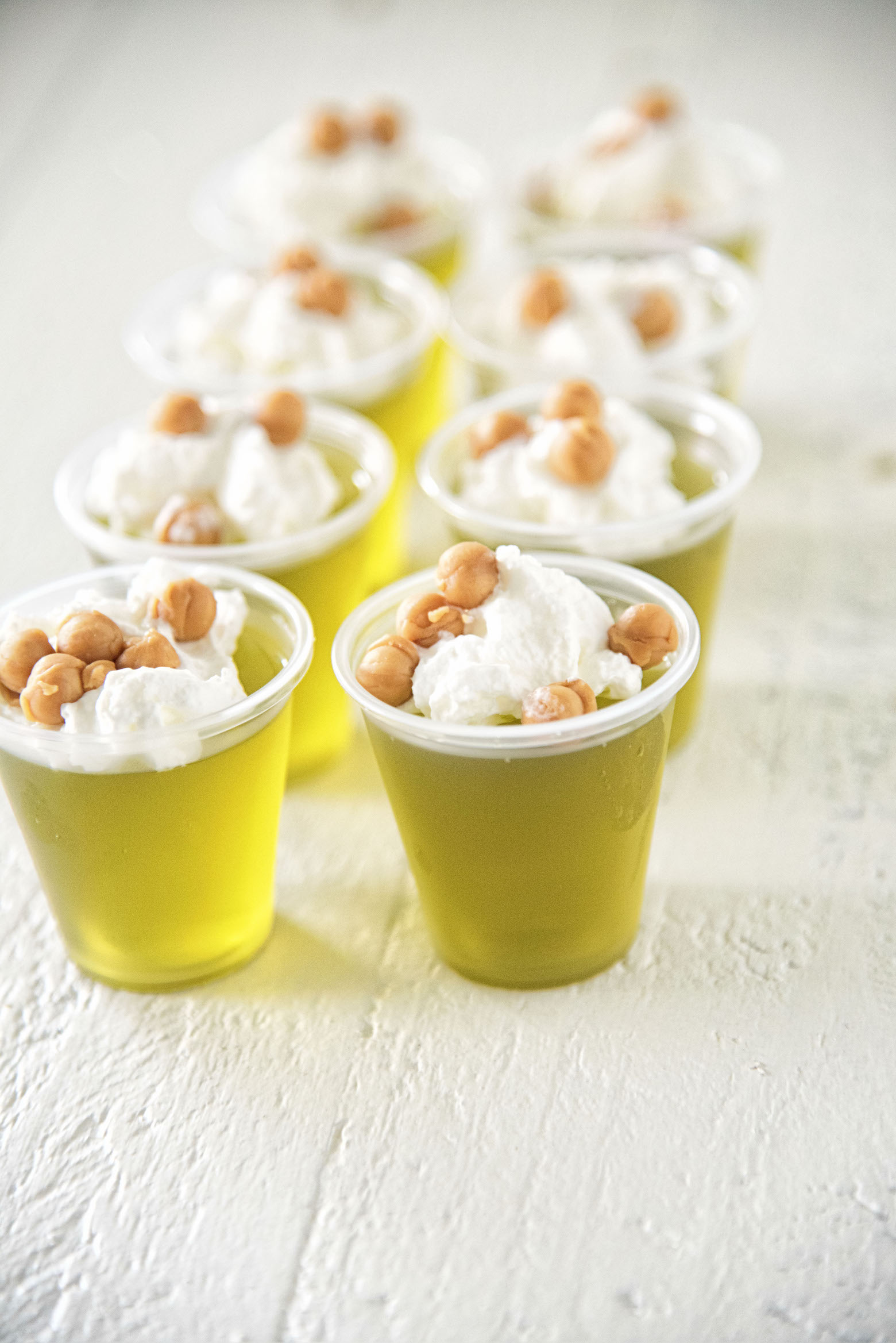 Salted Caramel Apple Whiskey Jell-O Shots