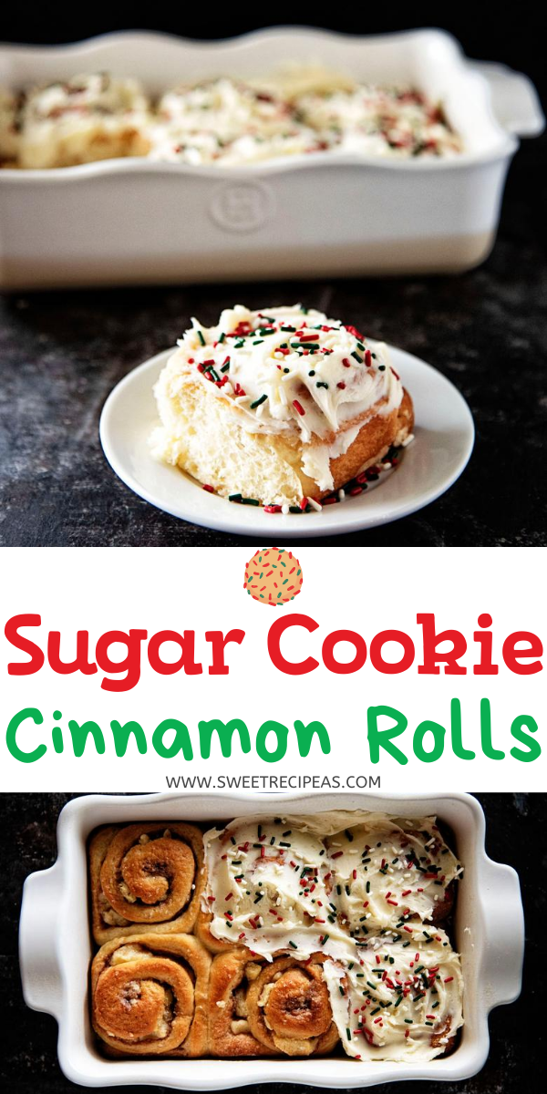 Sugar Cookie Cinnamon Rolls