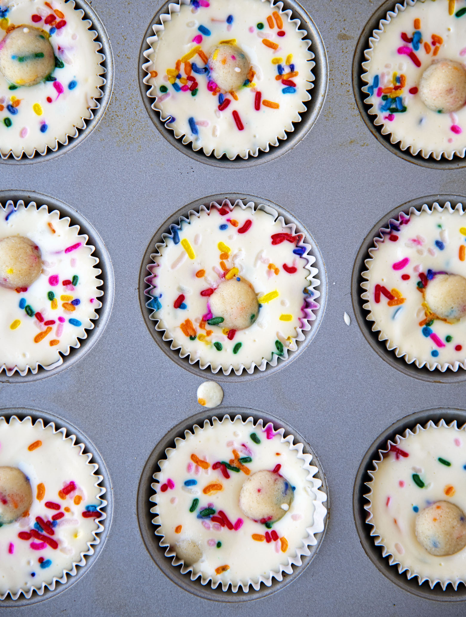 Sugar Cookie Dough Cheesecake Cups