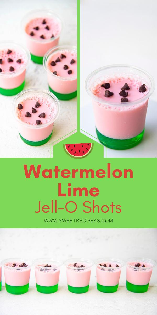 Watermelon Lime Jell-O Shots