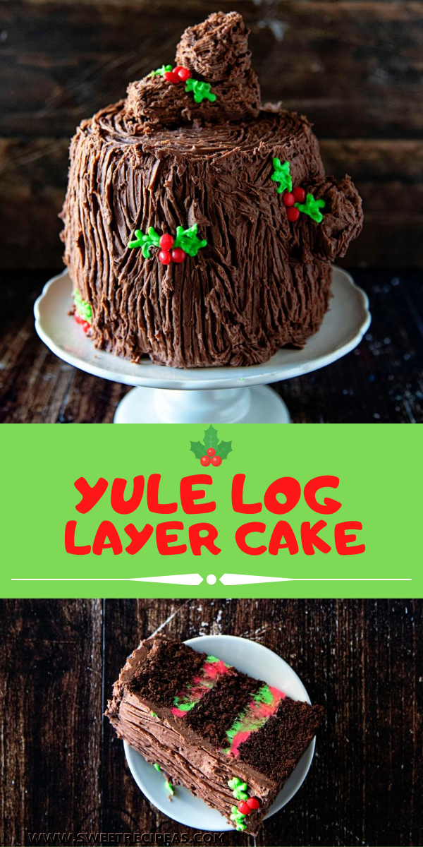 Yule Log Layer Cake