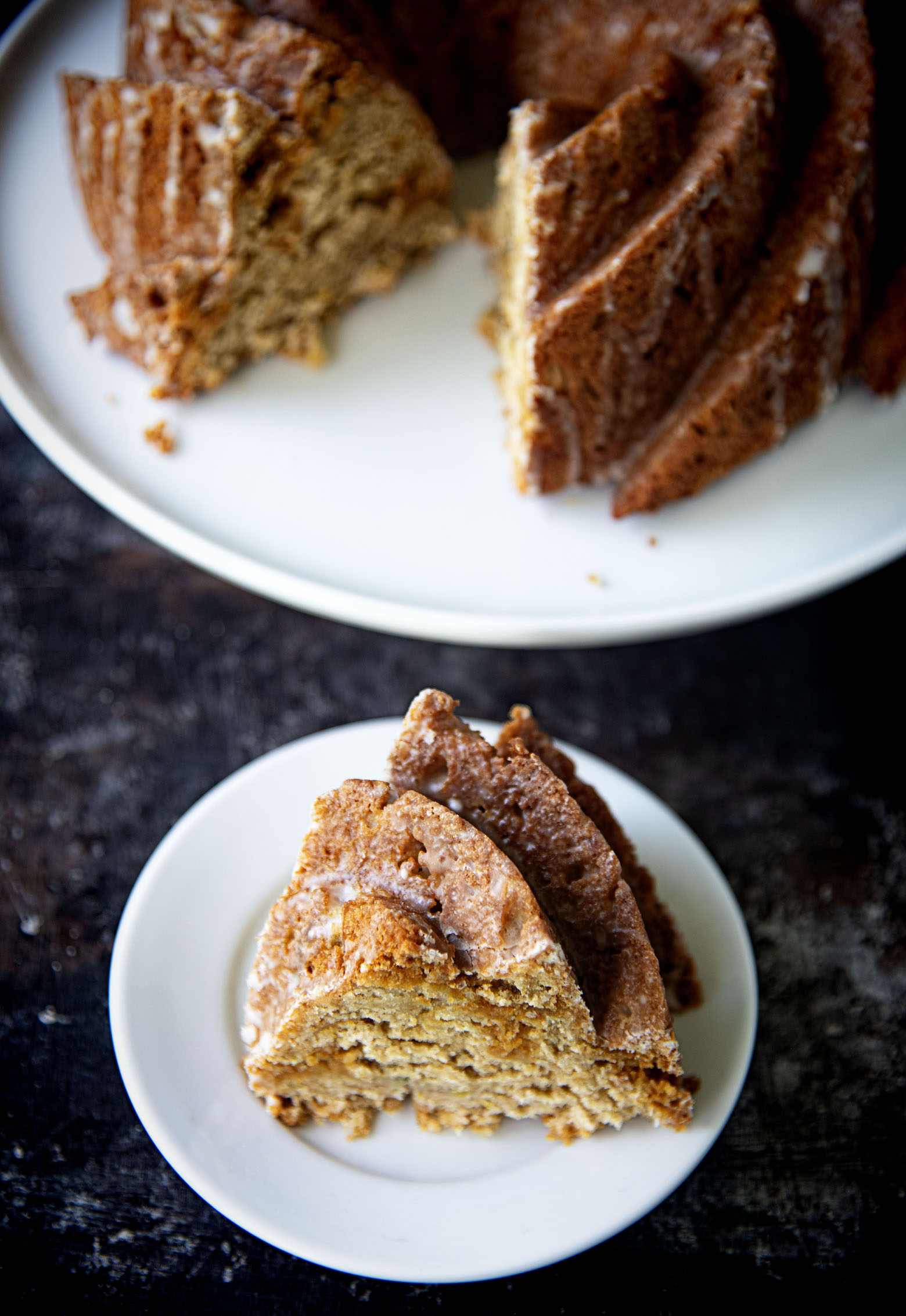 Apple Oatmeal Butterscotch Bundt Cake