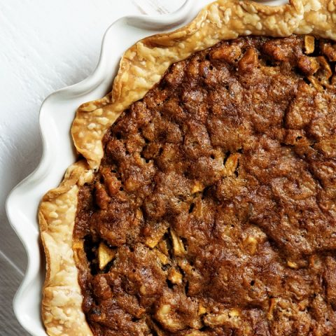 Butterscotch Apple Walnut Pie