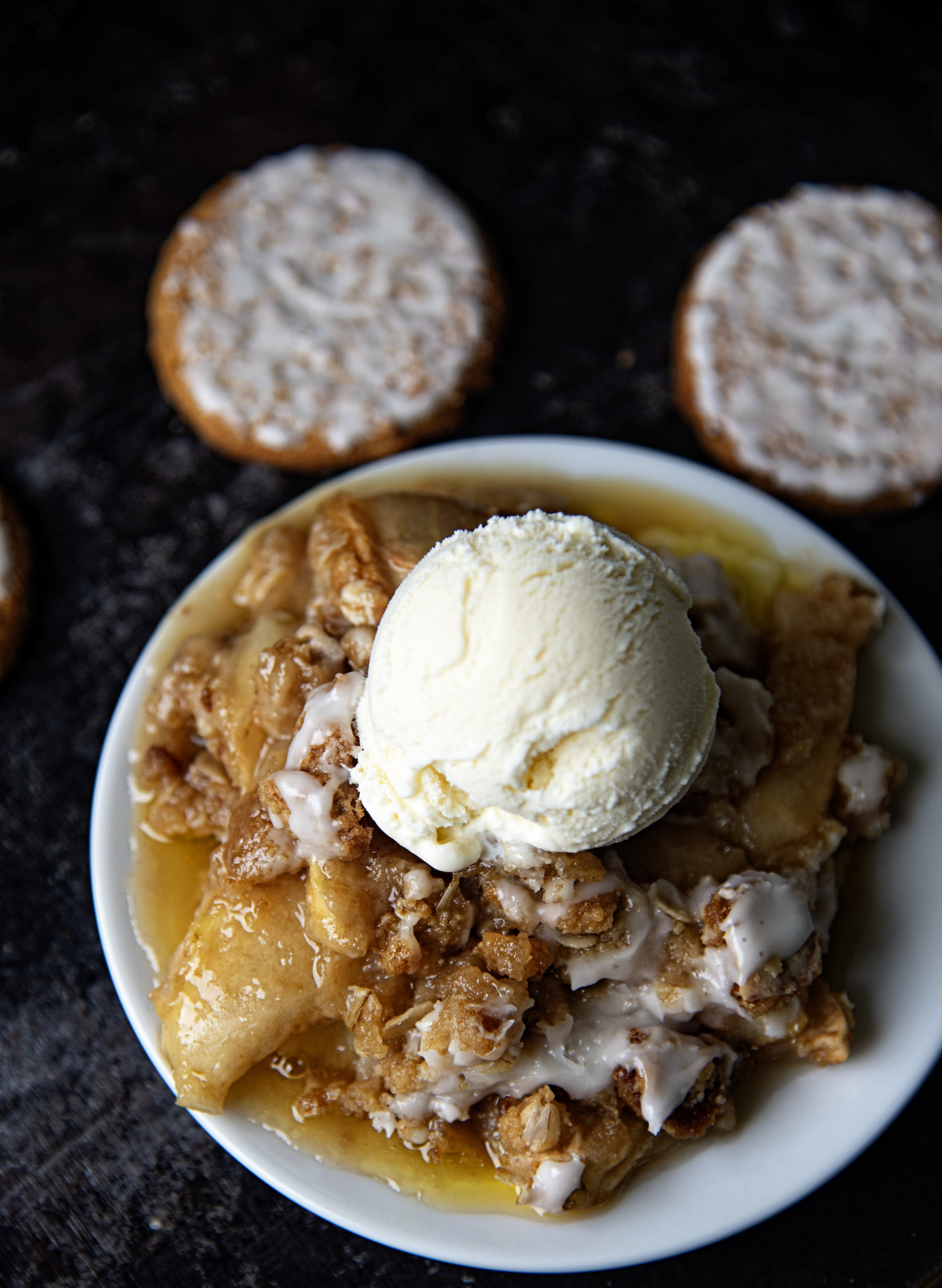 Iced Oatmeal Apple Crisp