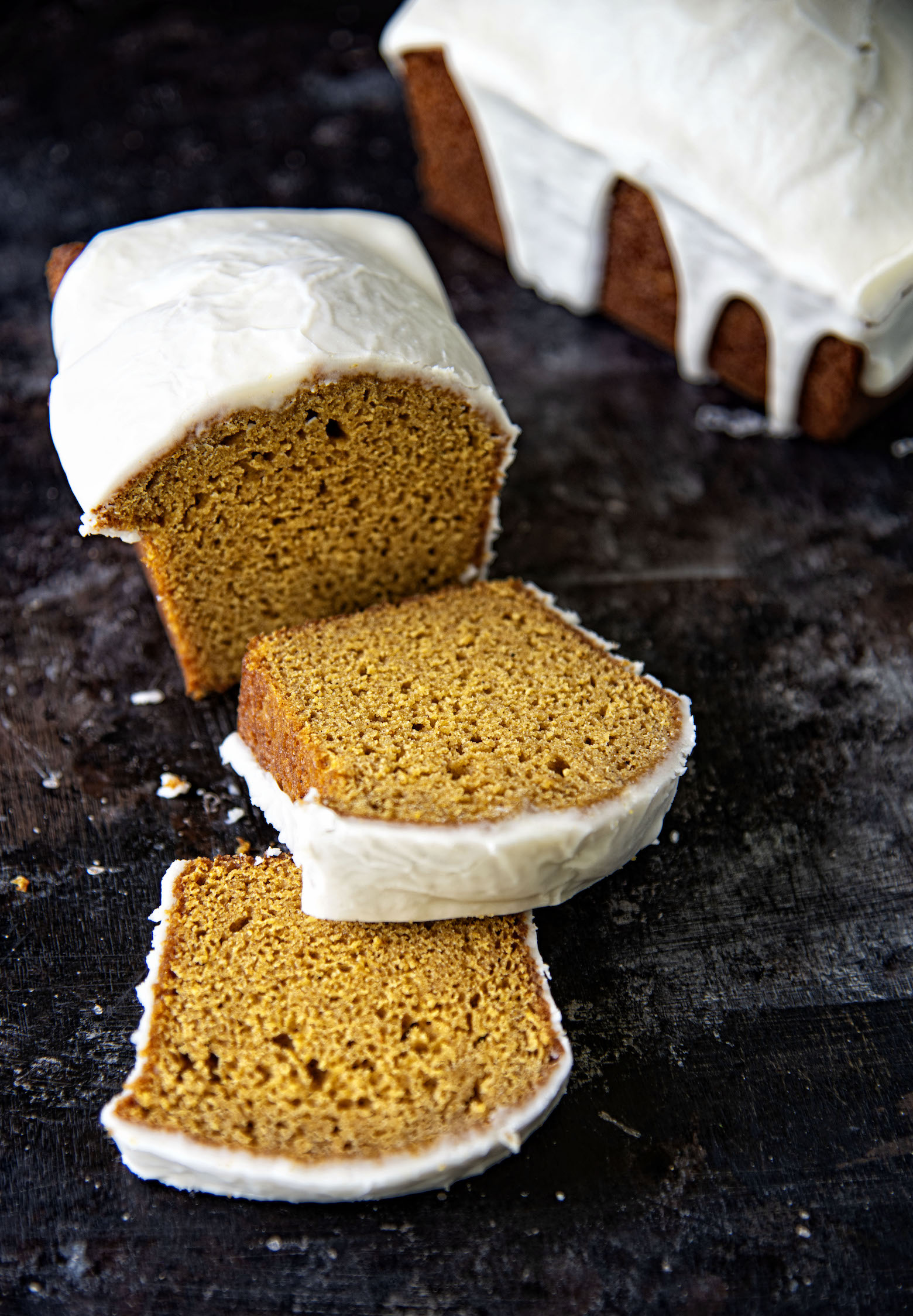 Whiskey Glazed Spiced Pumpkin Loaf