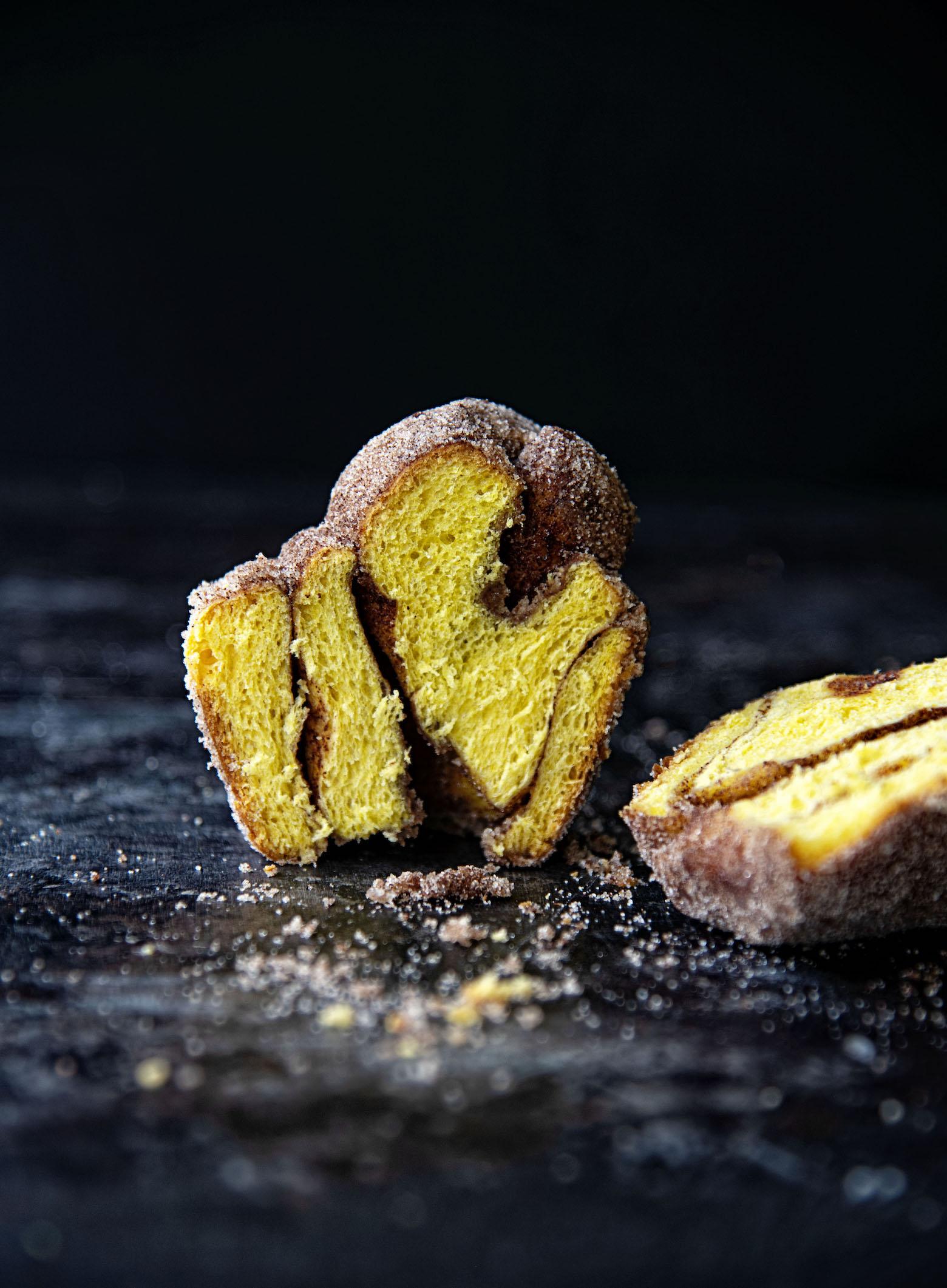 Brown Butter Cinnamon Sugar Pumpkin Brioche Buns