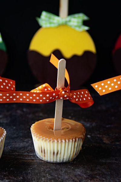 Caramel Apple Cheesecake Cups #HalloweenTreatsWeek