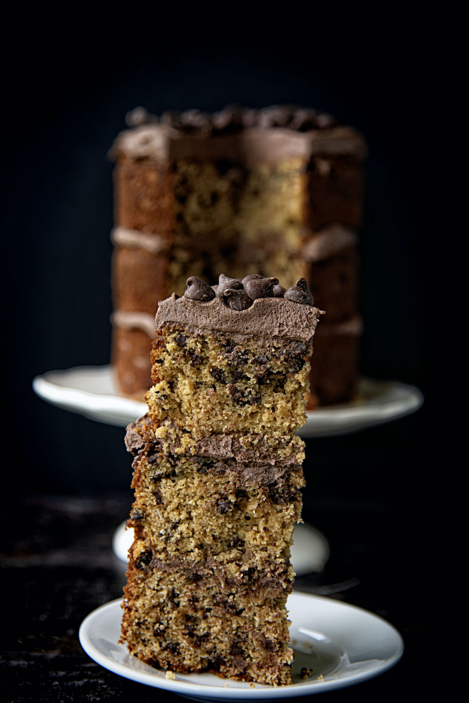 Chocolate Chip Oatmeal Cream Pie Cake