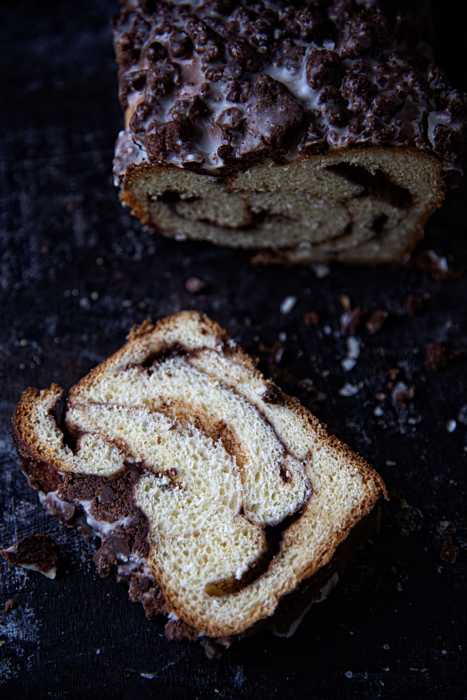 Chocolate Orange Crumb Babka