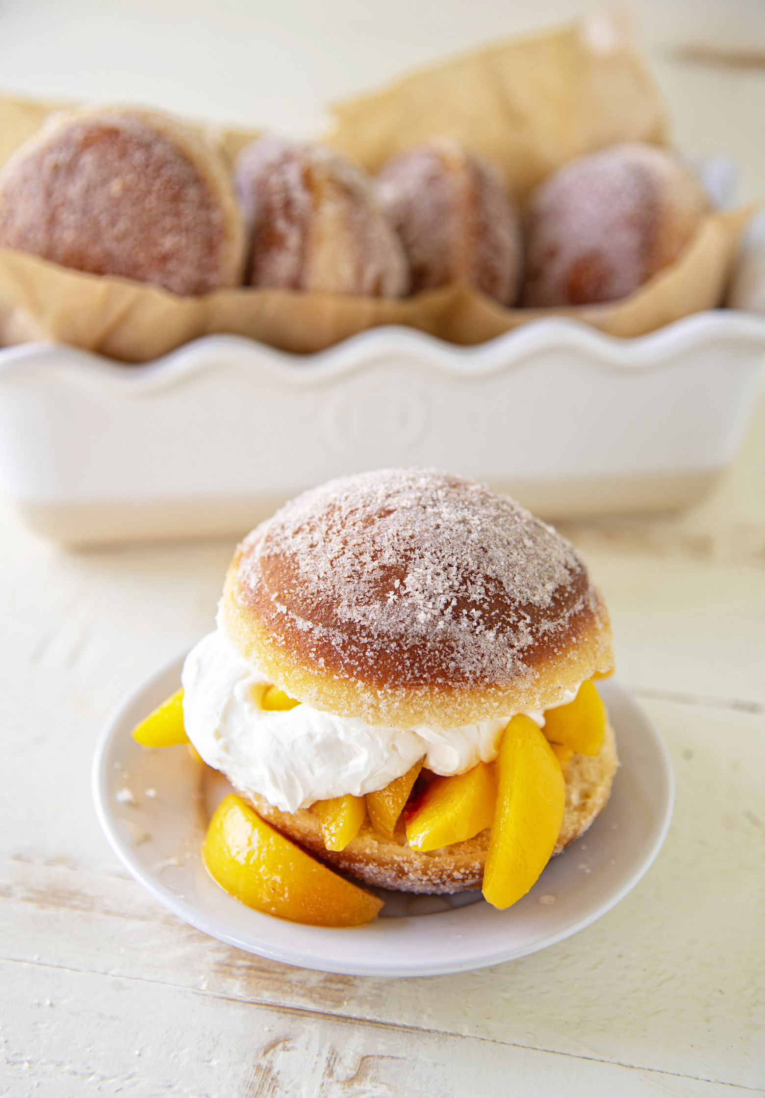 Cinnamon Donut Peach Shortcake from Holy Sweet! 60 Indulgent Recipes for Bigger Better Desserts