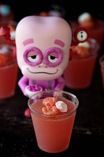 Franken Berry Jell-O Shots #HalloweenTreatsWeek