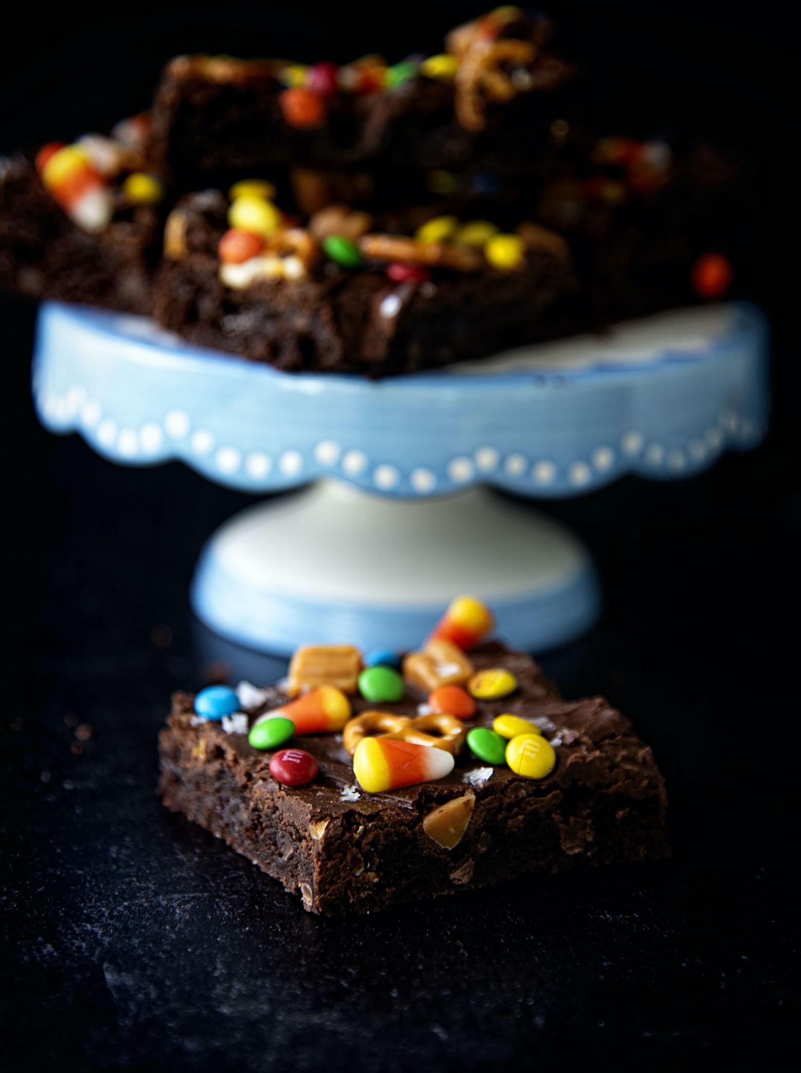 Halloween Candy Kitchen Sink Brownies