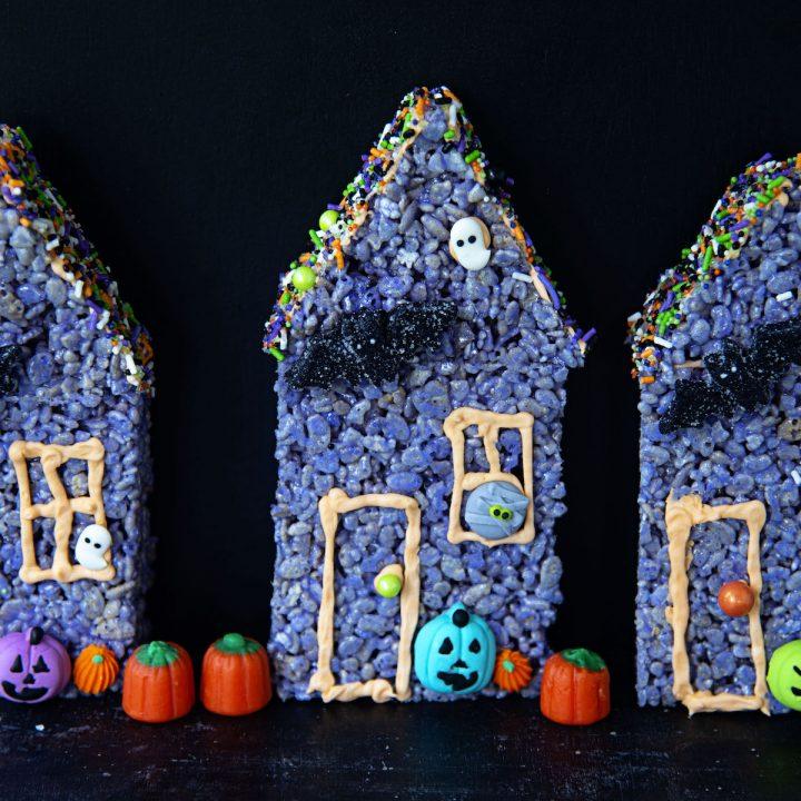 Rice Krispie Treat Haunted Houses