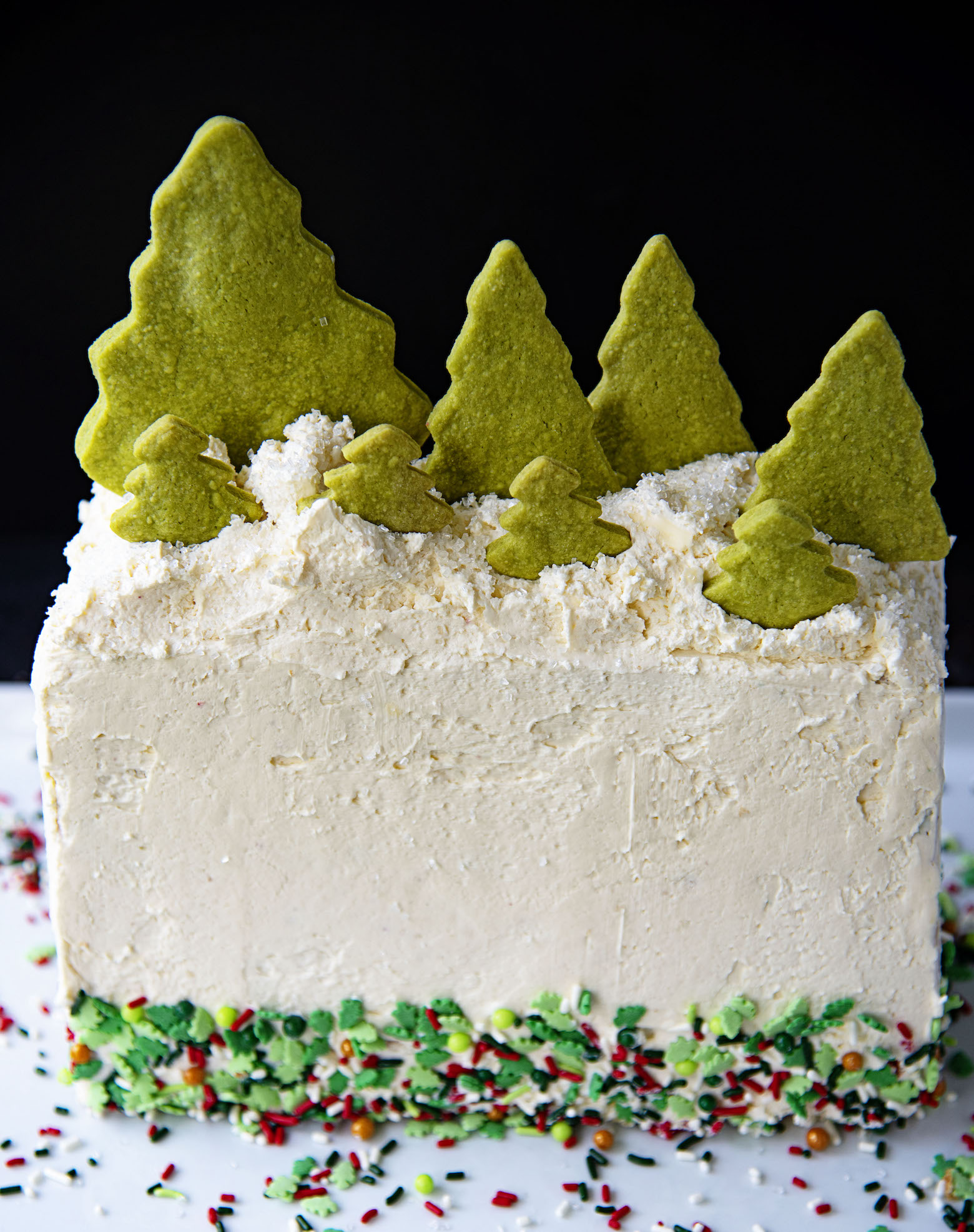 Holly Jolly Vanilla Sprinkle Cake