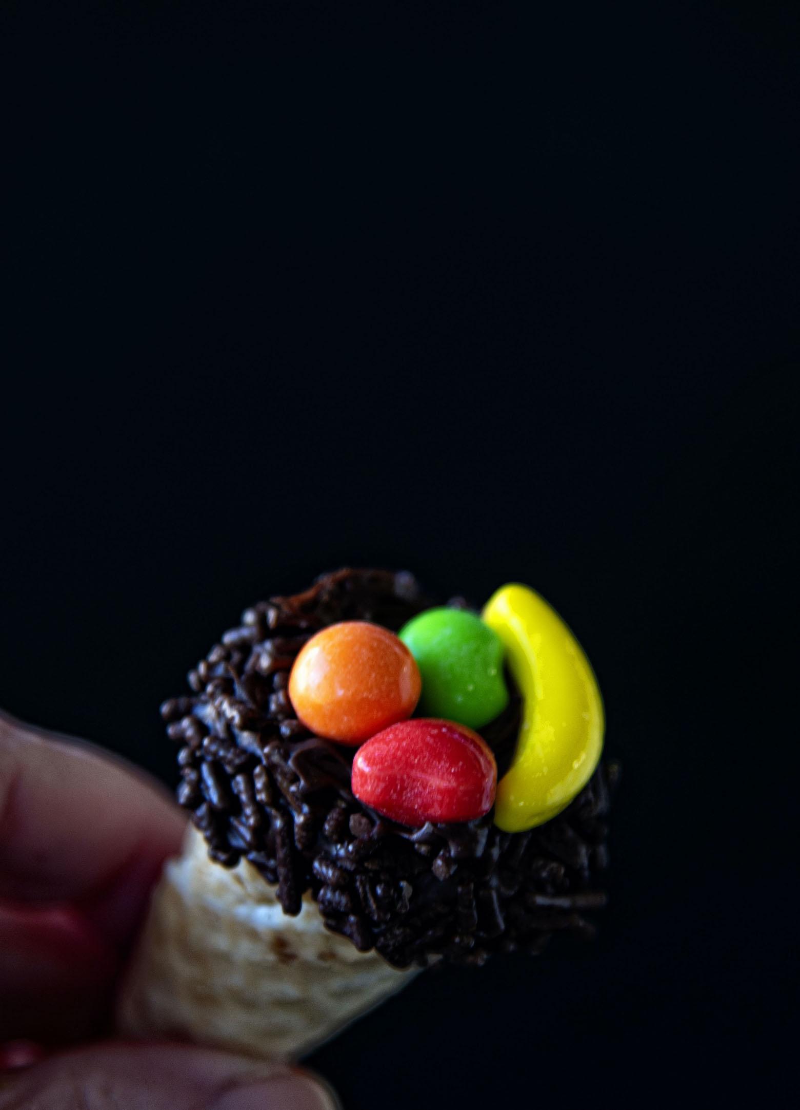 Thanksgiving Cornucopia Cake Pops