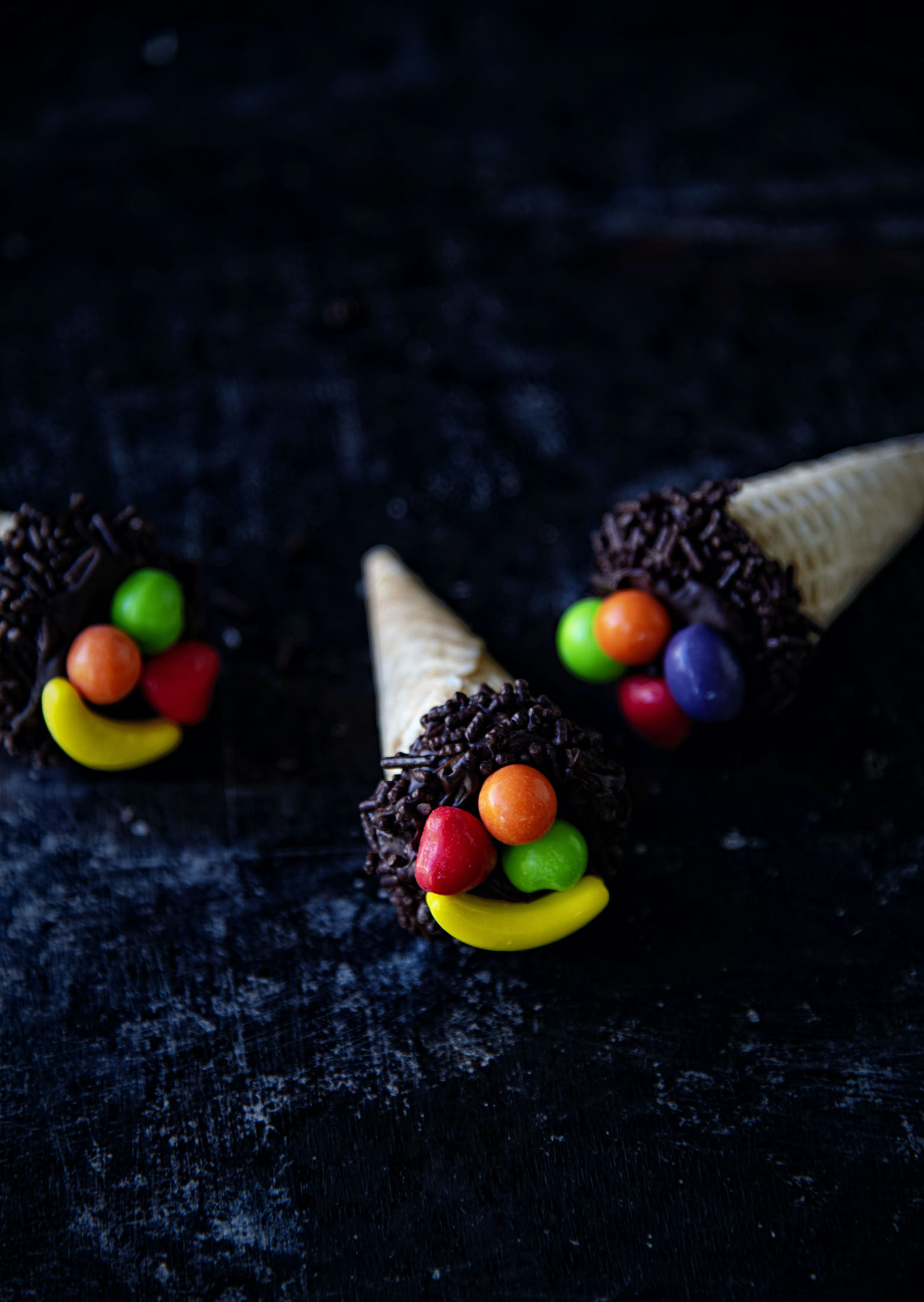 Thanksgiving Cornucopia Cake Pops