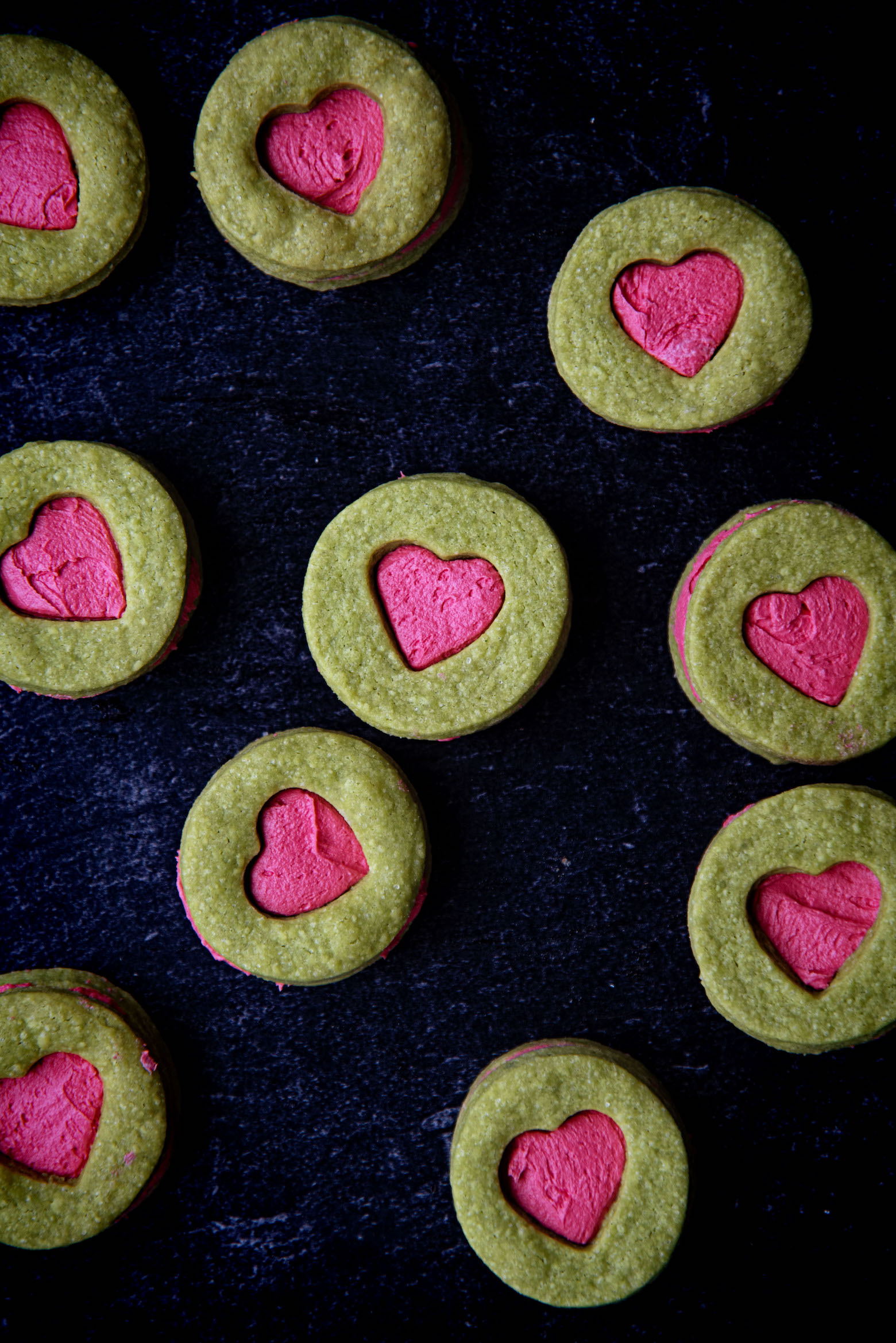 The Grinch Buttercream Sandwich Cookies