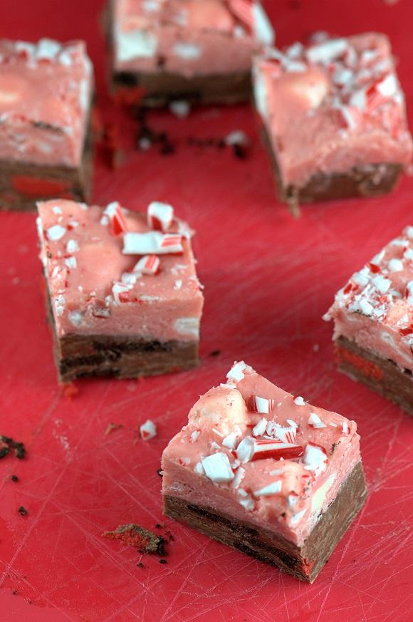 Candy Cane Marshmallow Oreo Milk Chocolate Fudge