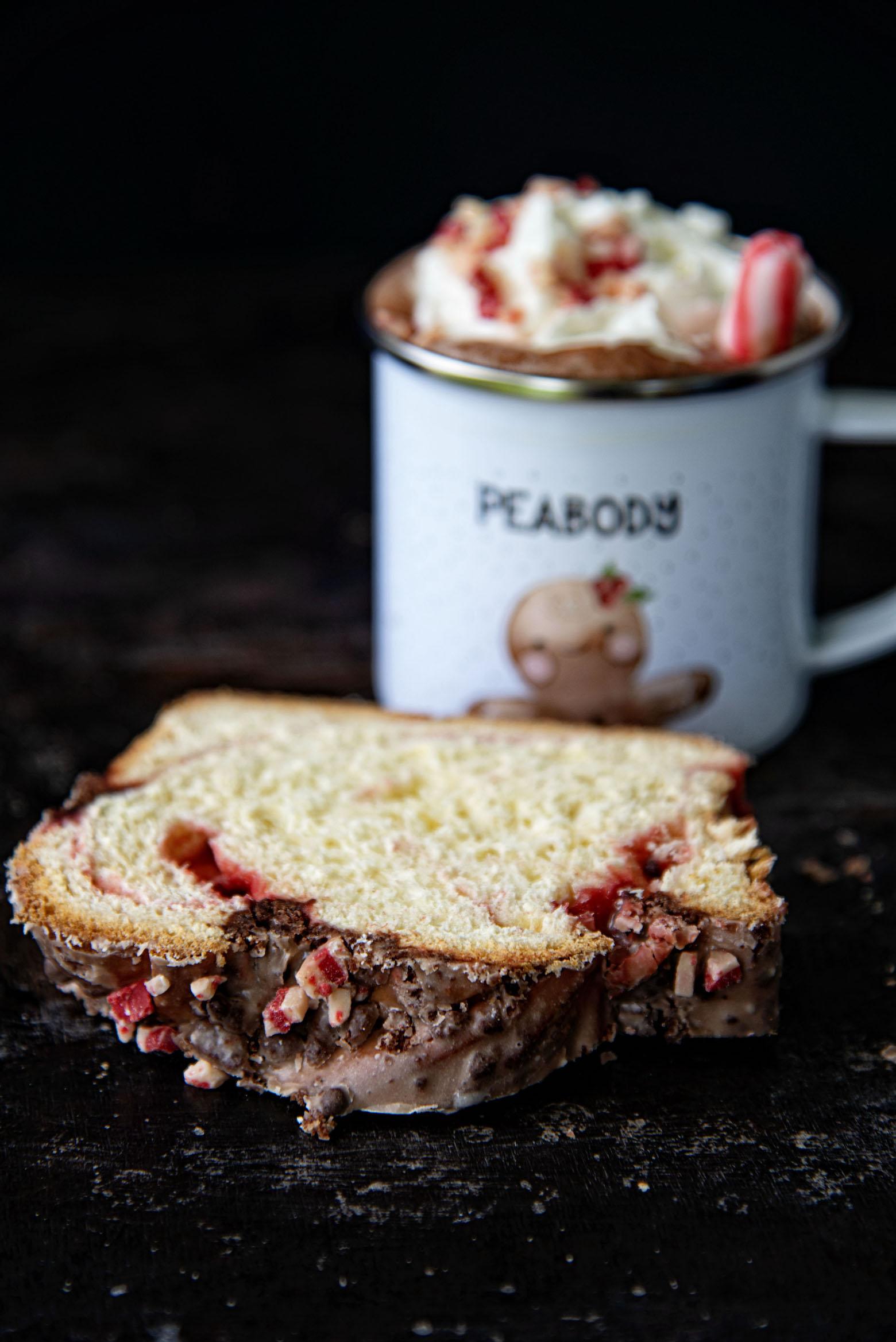 Peppermint Hot Chocolate Babka