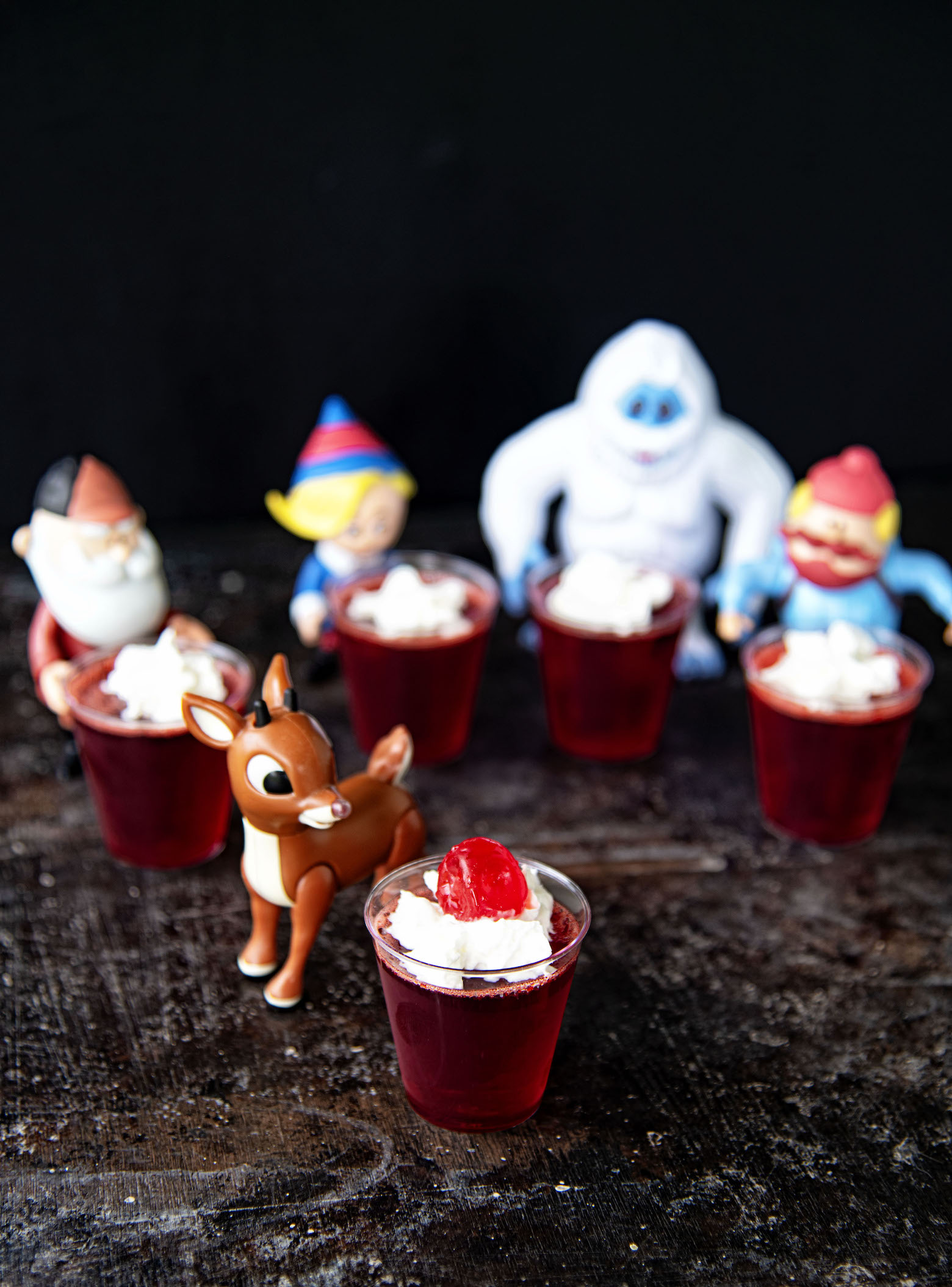 Rudolph Red Nose Jell-O Shots