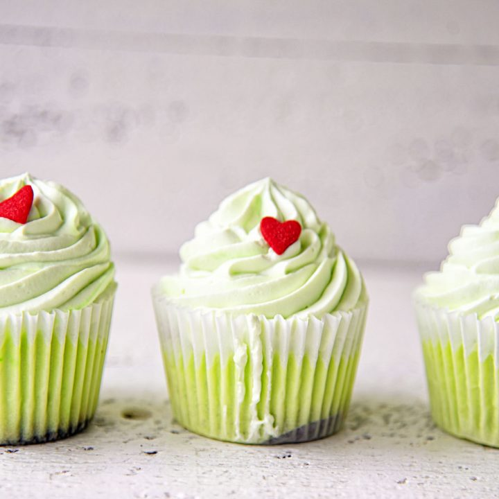 The Grinch Peppermint Cheesecake Cups