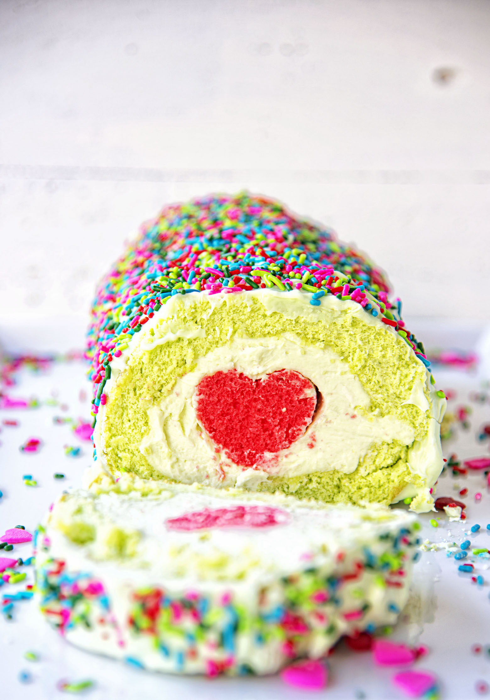 The Grinch Vanilla Cake Roll