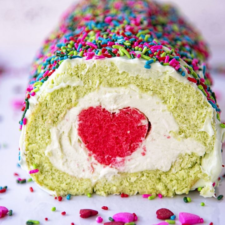 The Grinch Vanilla Cake Roll