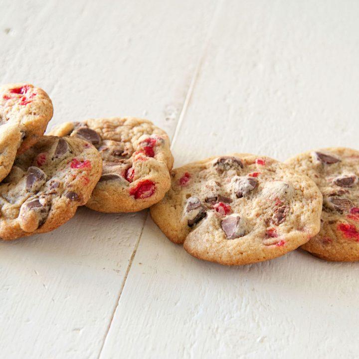 Cinnamon Red Hots Chocolate Chip Cookies