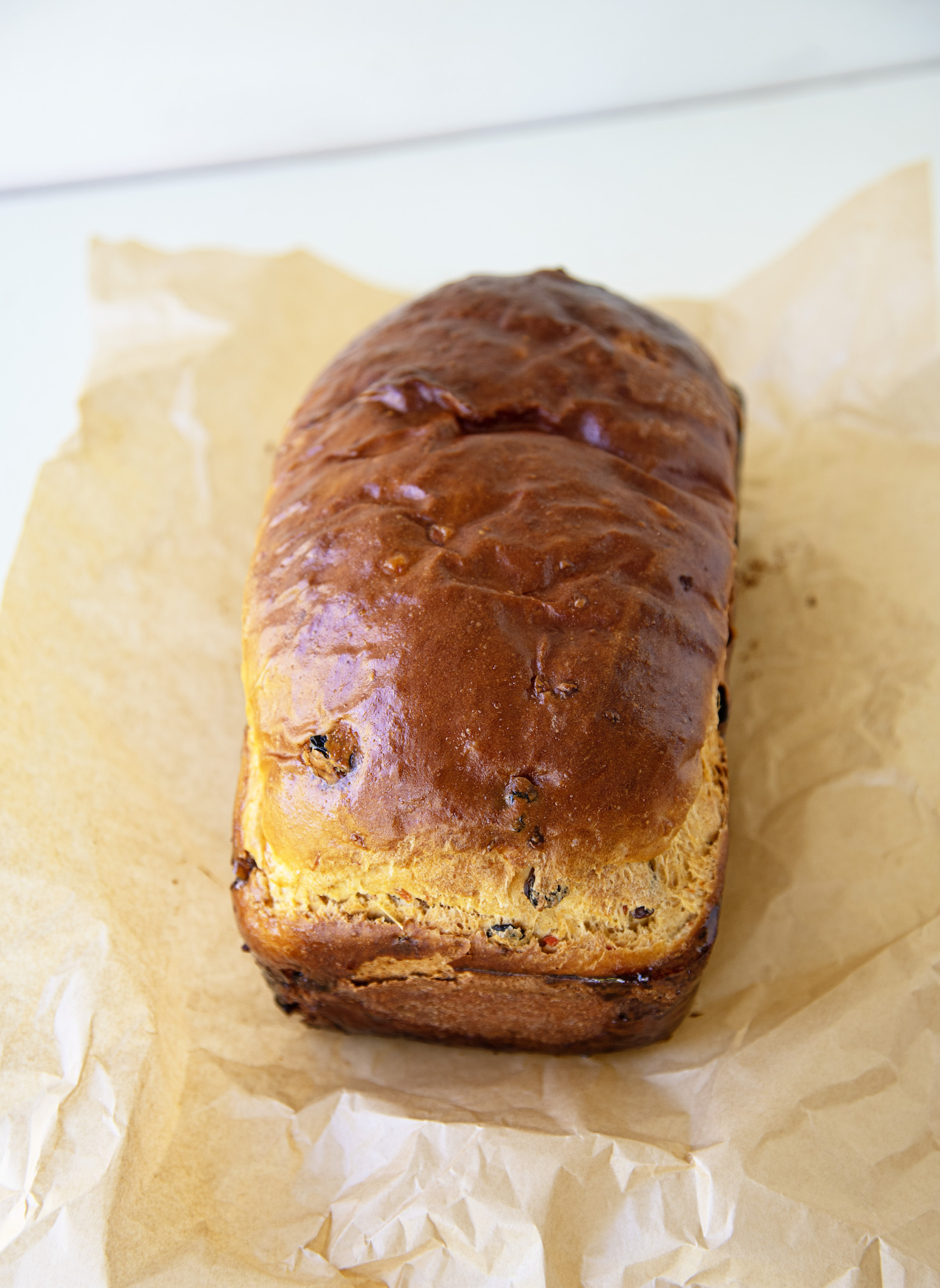 Roasted Carrot Cinnamon Raisin Yeast Bread